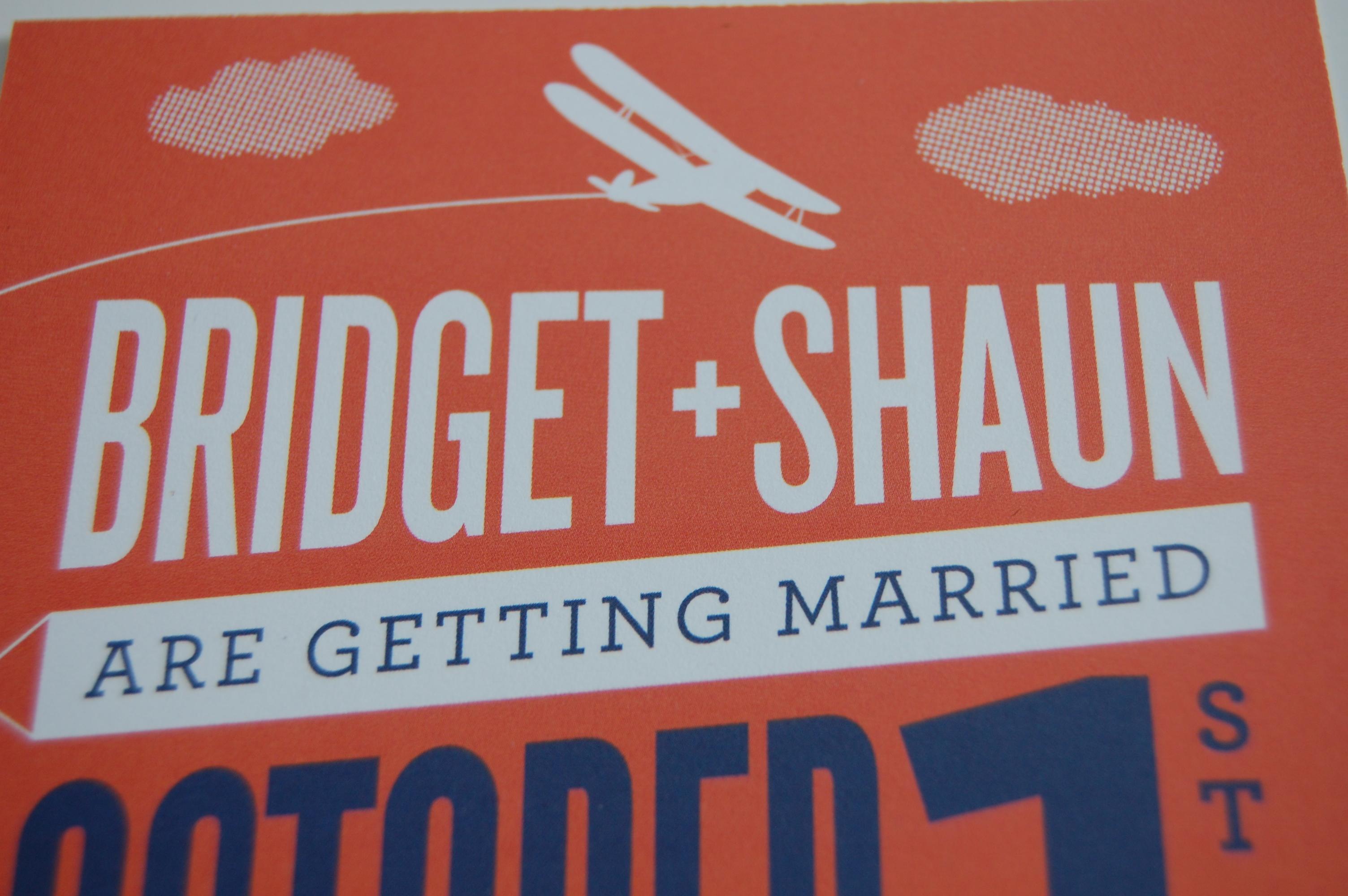 Bridget and Shaun Wedding Invitations